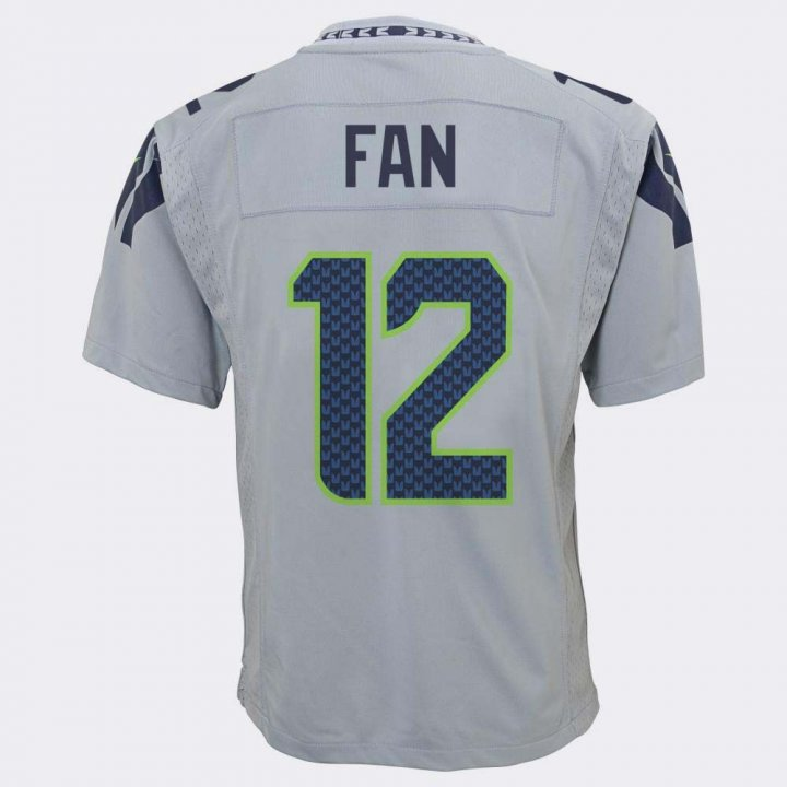 Nike Seattle Seahawks Youth Fan Game Jersey (Gray)