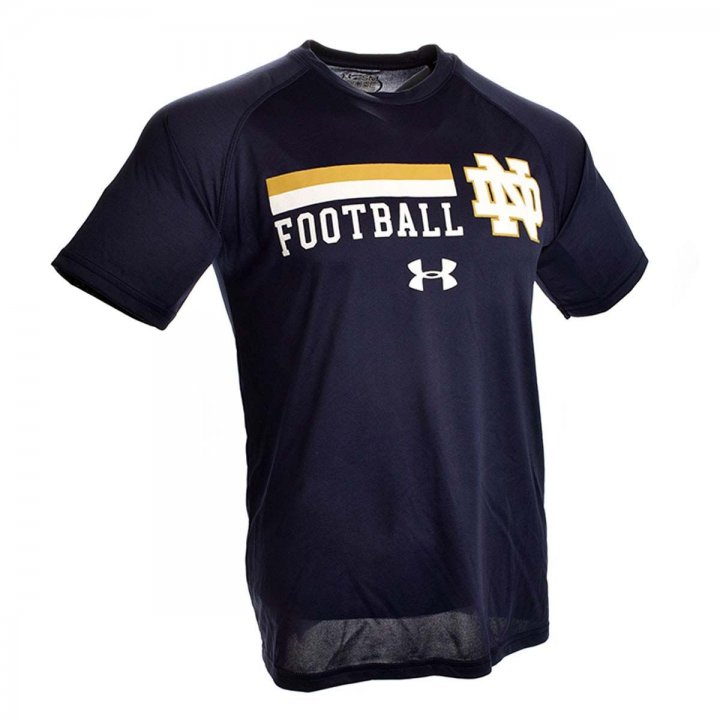Under Armour Notre Dame Fighting Irish On Field Graphic Tech T-Shirt (Navy)
