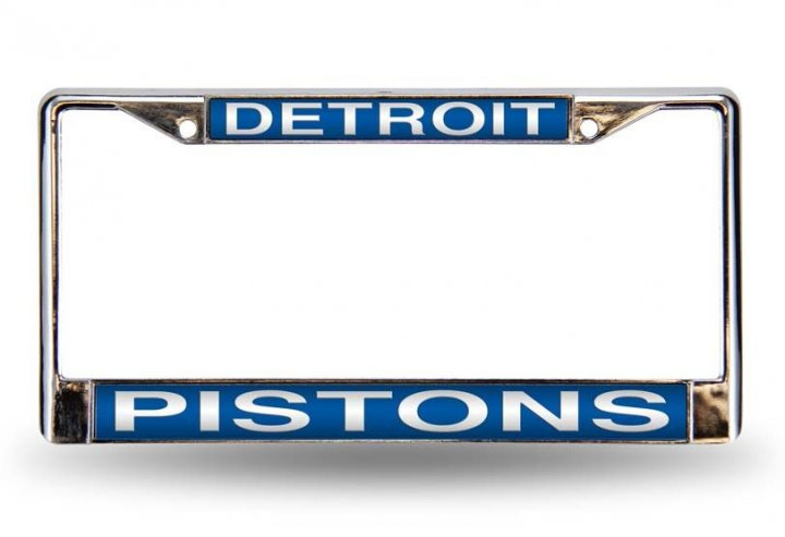 Detroit Pistons NBA Laser Chrome License Plate Frame