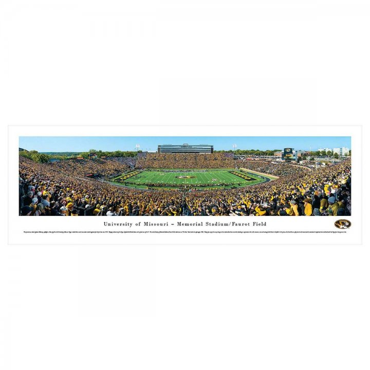 Missouri Tigers 50 Yard Line Day Unframed Panorama