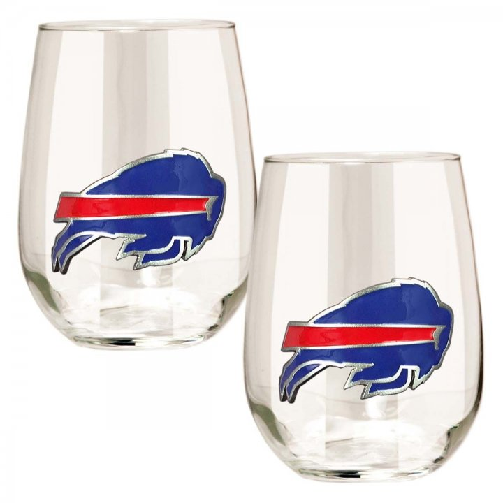 Buffalo Bills Buffalo Bills 2 Piece Stemless Wine Glass Set