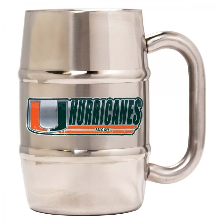 Miami Hurricanes Miami Hurricanes 16 oz Double Wall Stainless Steel Mug