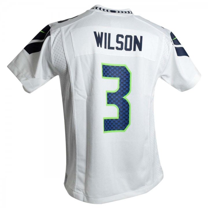 Russell Wilson Seattle Seahawks Nike Youth Game Jersey (White)