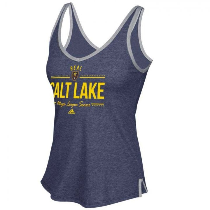 Real Salt Lake MLS Honey Comb Lines V-Neck Tank (Navy)