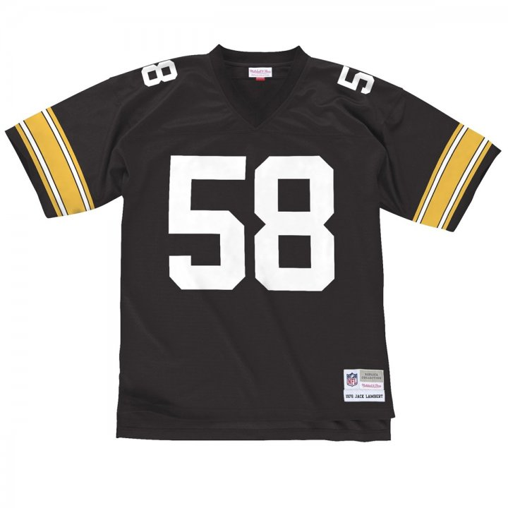 Franklin Sports Jack Lambert #58 Pittsburgh Steelers NFL Throwback Premier Jersey-Black