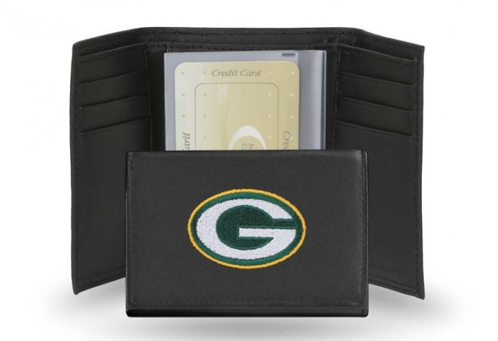 Green Bay Packers NFL Leather Wallet (Black)