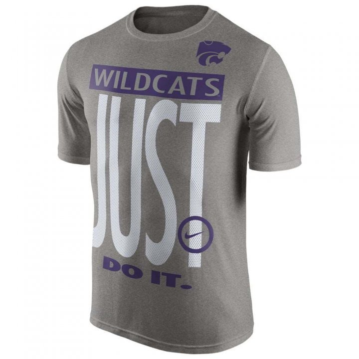 Nike Kansas State Wildcats College Legend Just Do It T-Shirt (Gray)