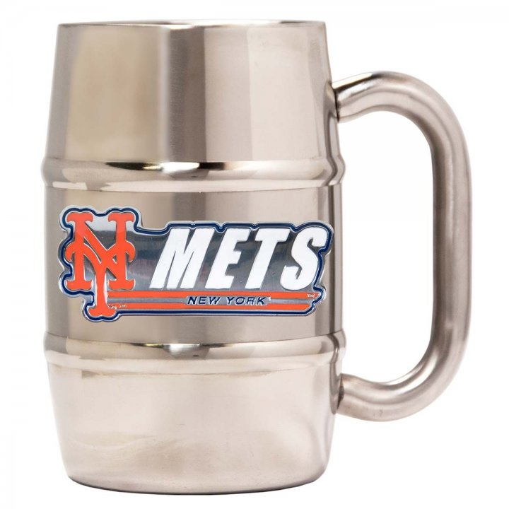 New York Mets New York Mets 16 oz Double Wall Stainless Steel Mug