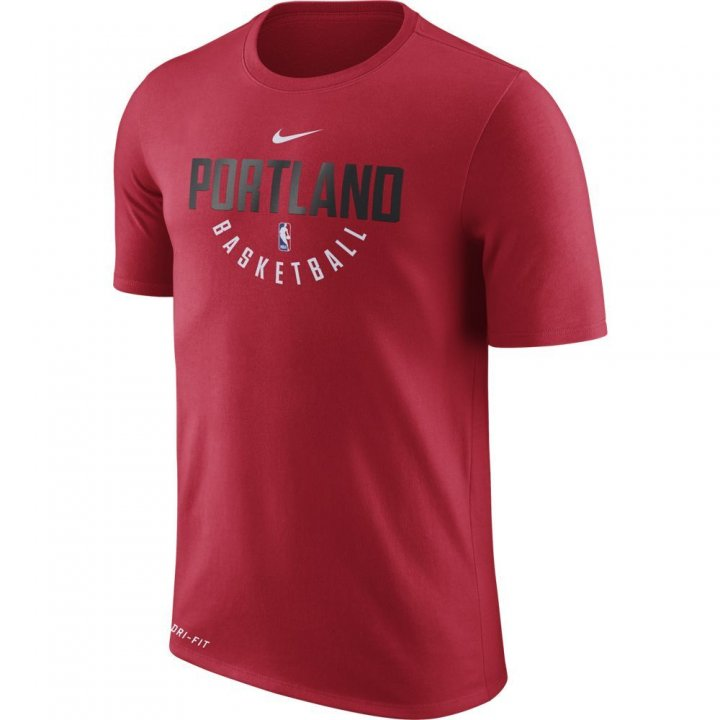 Portland Trail Blazers NBA Nike Official Practice Tee (Red)