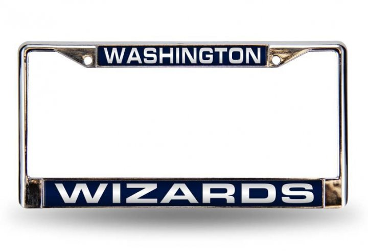 Washington Wizards NBA Laser Chrome License Plate Frame