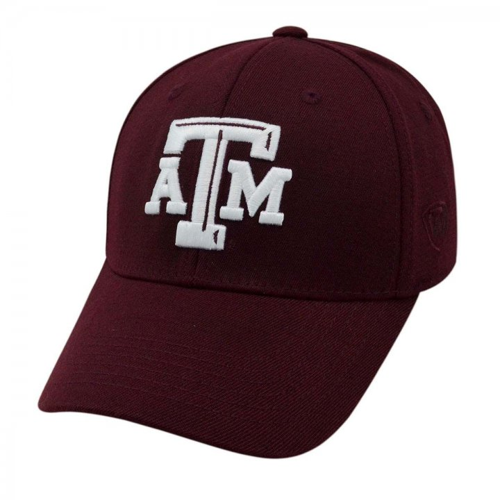 Texas A&M Aggies 1 Fit Premium Stretch Fit Hat (Maroon)