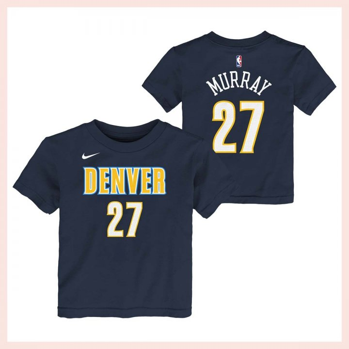 Denver Nuggets NBA Jamal Murray Youth Flat Basic Name & Number Tee (Navy)