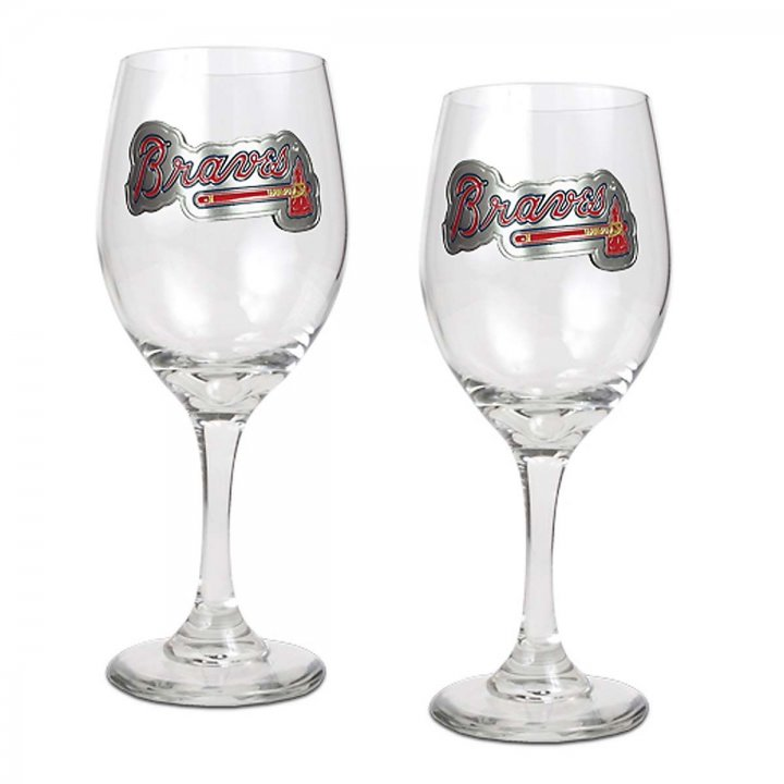 Atlanta Braves Atlanta Braves 2 Piece Wine Glass Set