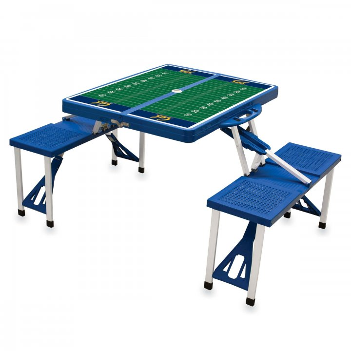 CAL Golden Bears Portable Picnic Table with Sports Field Design