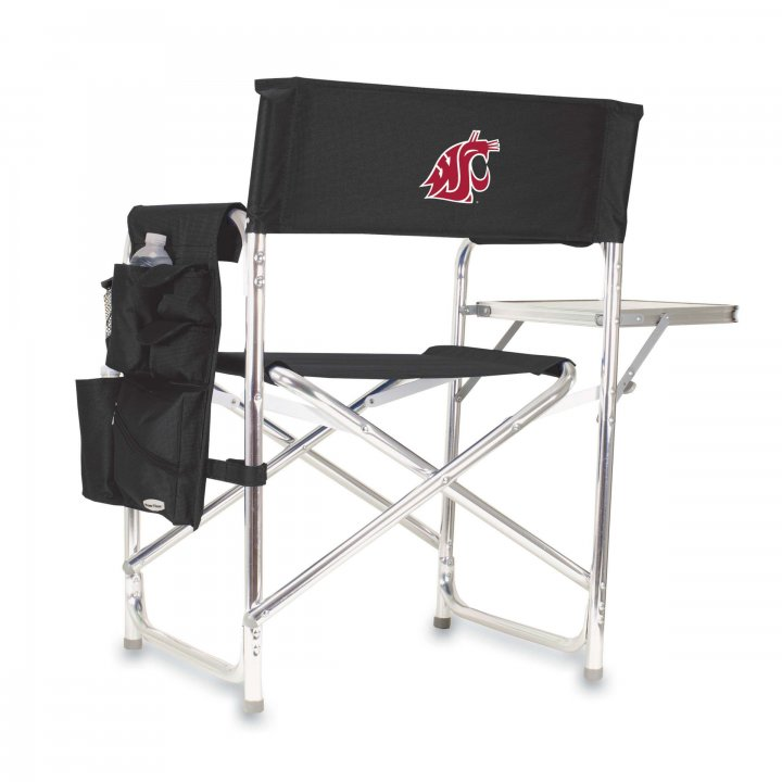 Washington State Cougars Sports Chair (Black)