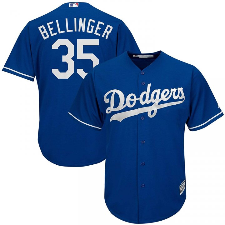 Franklin Sports Cody Bellinger Los Angeles Dodgers #35 Blue Alternate Cool Base Replica Jersey