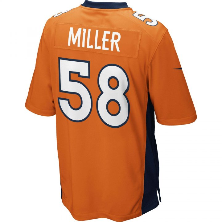 Von Miller Denver Broncos Nike Game Jersey (Orange)