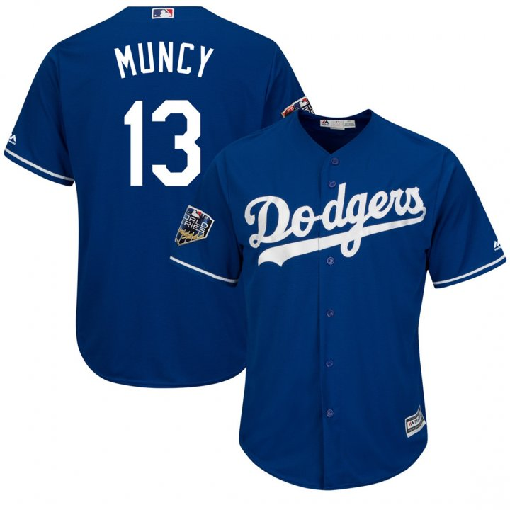 Outerstuff Youth Kids Los Angeles Dodgers 13 Max Muncy Baseball Player Jersey Royal blue