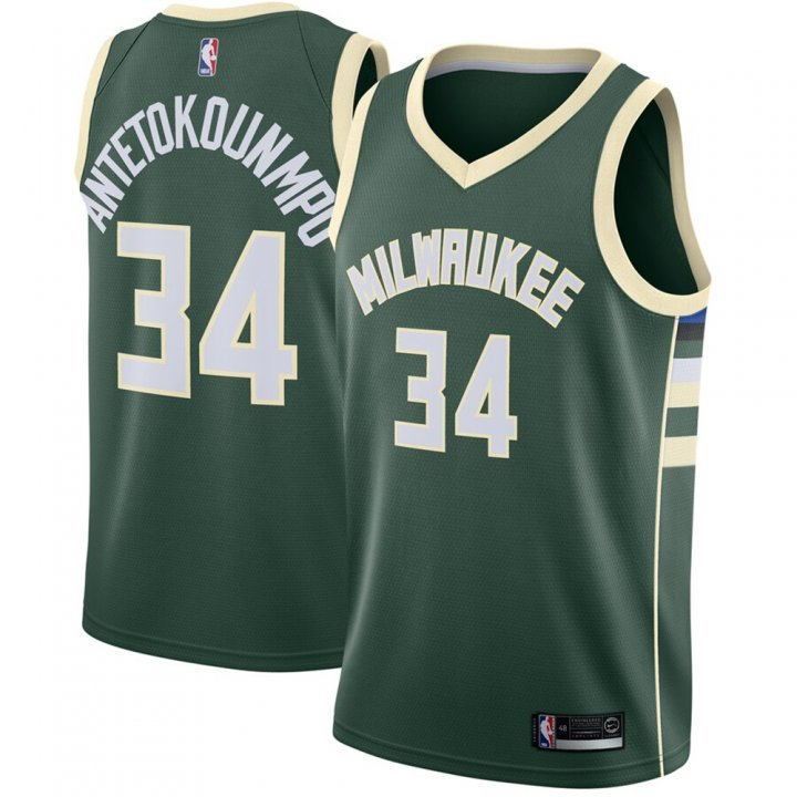 Franklin Sports Giannis Antetokounmpo Milwaukee Bucks Swingman Jersey Green - Icon Edition