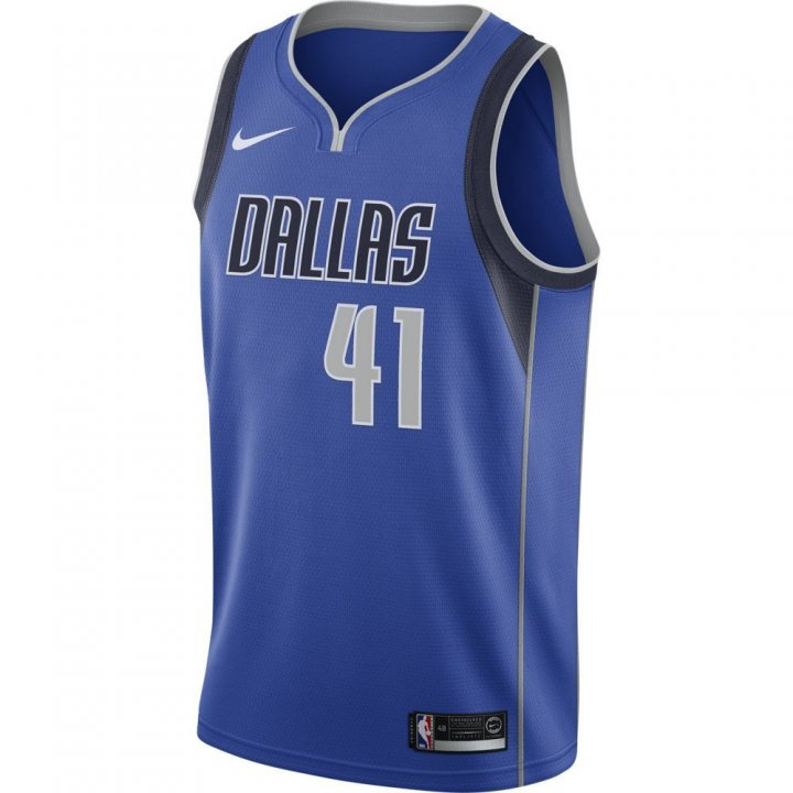 Dallas Mavericks NBA Dirk Nowitzki Mens Nike Icon Swingman Jersey (Royal)