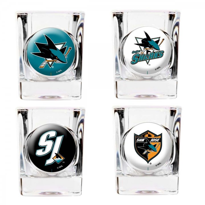 San Jose Sharks San Jose Sharks 4 Piece Collector's Shot Glass Set