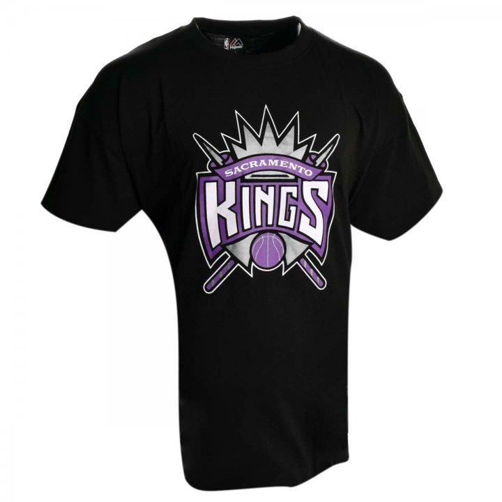 Sacramento Kings Big And Tall Primary Logo T-Shirt (Black)