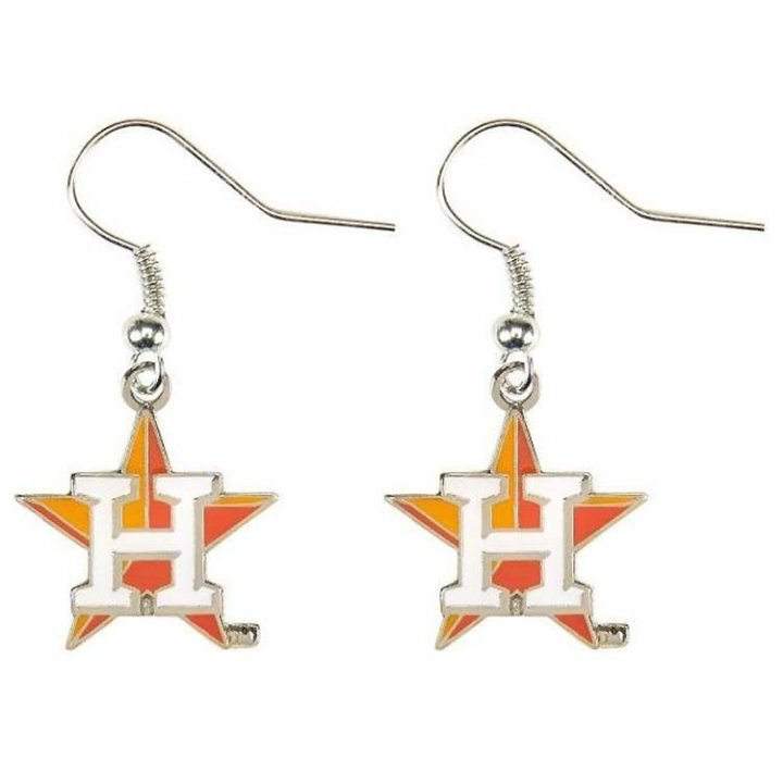 Houston Astros MLB Logo Dangler Earrings