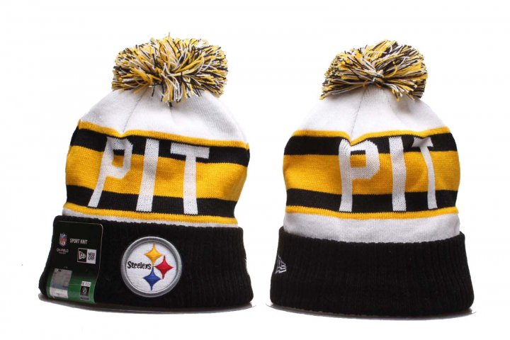 New Era Knit Cap Winter NFL Sport Knit Hat(Pittsburgh Steelers)