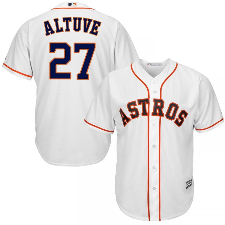 Franklin Sports Jose Altuve Houston Astros MLB Men's White Home Cool Base Player Jersey