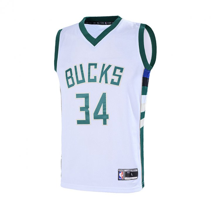 Outerstuff Youth 8-20 Milwaukee Bucks #34 Giannis Antetokounmpo Jersey White