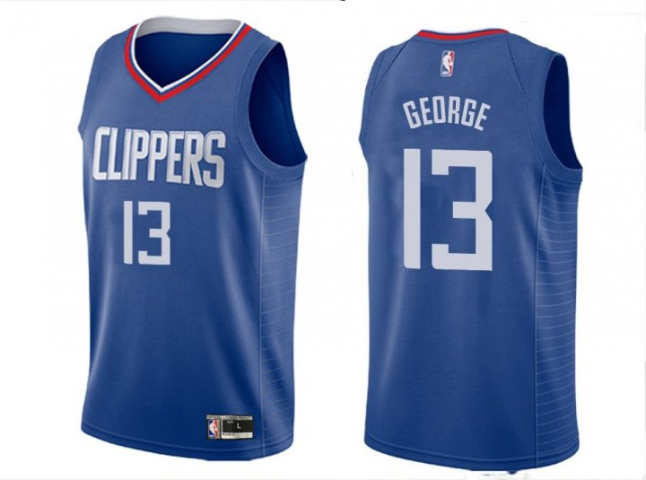 Franklin Sports Youth Kids 13 Paul George LA Clippers Jersey Blue
