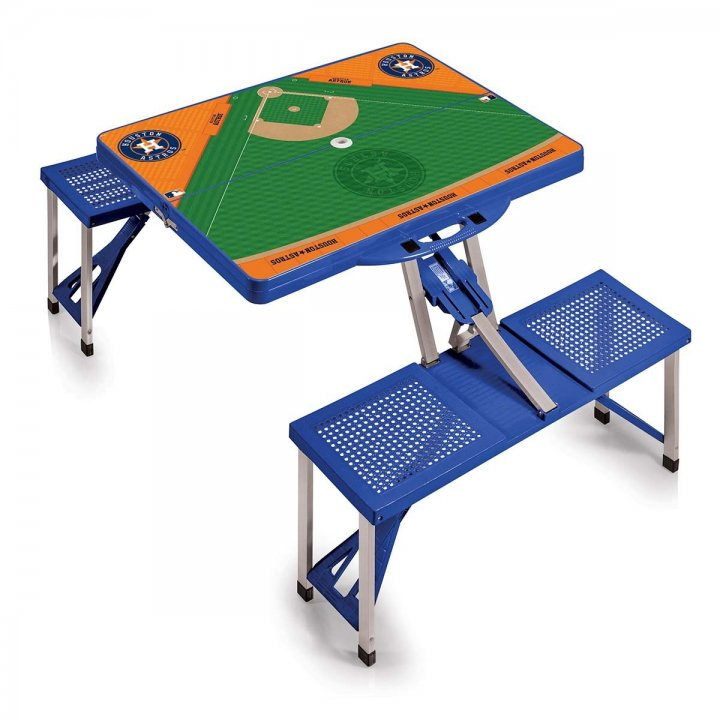 Houston Astros Portable Picnic Table with Sports Field Design