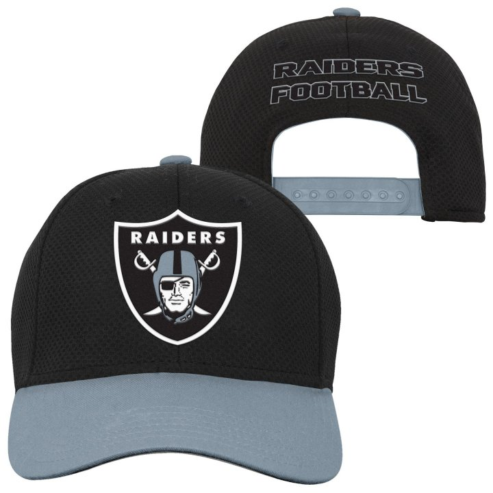 Oakland Raiders NFL Tech Structured Snap (Black)