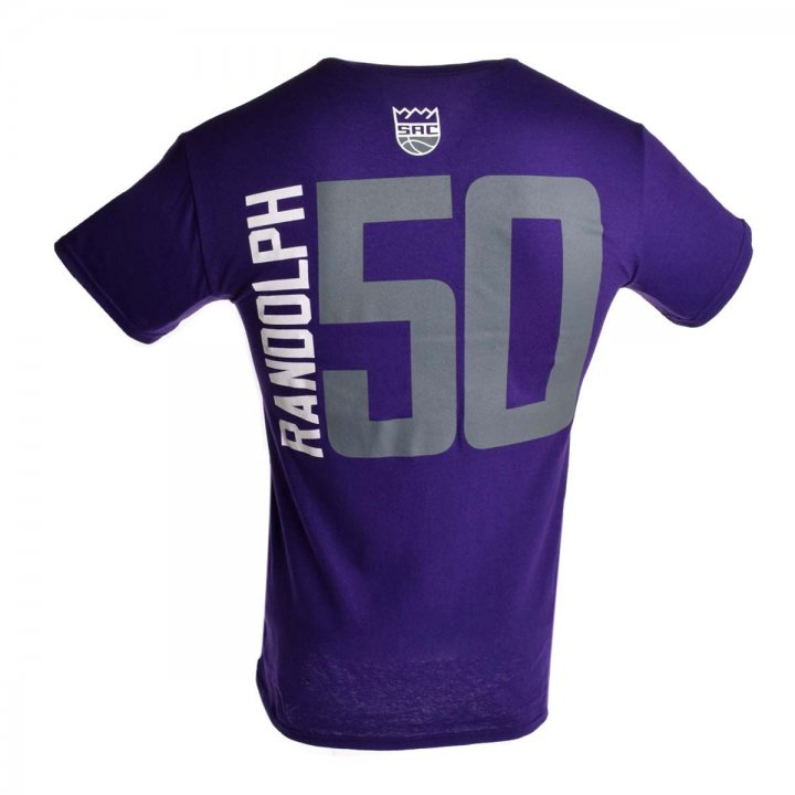 Sacramento Kings NBA Zach Randolph Vertical Name & Number T-Shirt (Purple)