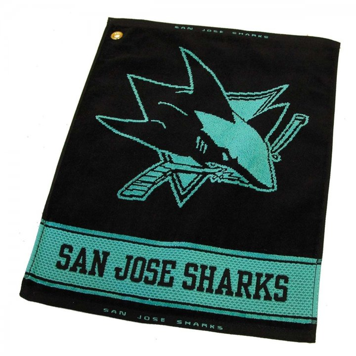 San Jose Sharks Woven Golf Towel