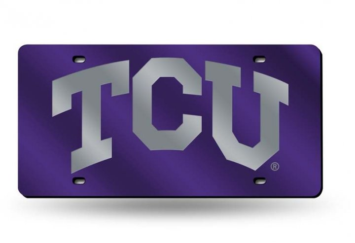 TCU Horned Frogs NCAA Laser Cut License Plate Tag