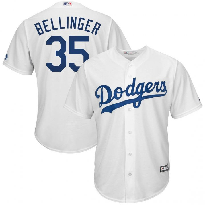 Franklin Sports Men's Cody Bellinger #35 Los Angeles Dodgers Home Cool Base Flexbase Player Jersey - White