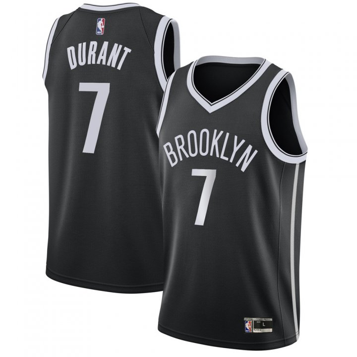 Franklin Sports Youth Kids 7 Kevin Durant Brooklyn Nets Jersey Black