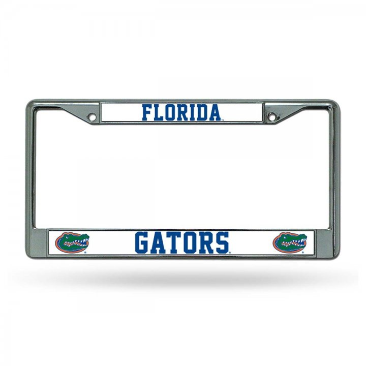 Florida Gators NCAA Chrome License Plate Frame