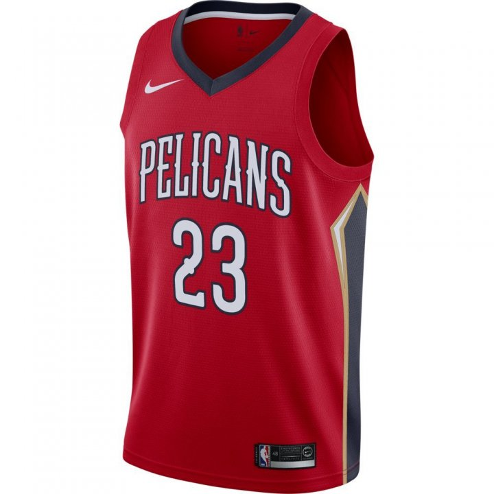 New Orleans Pelicans NBA Anthony Davis Statement Swingman Jersey (Red)