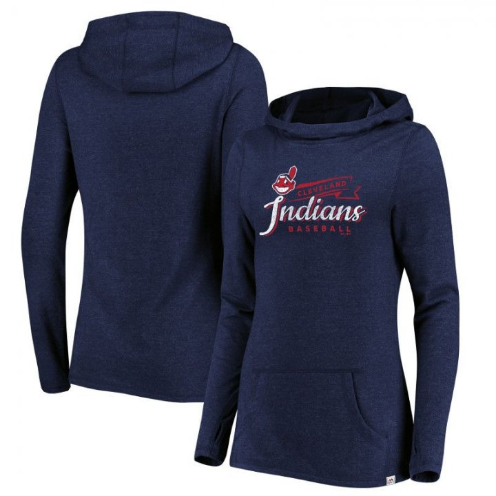 Cleveland Indians MLB Womens Winning Side Hood (Navy)