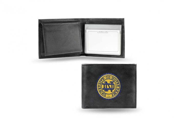 Notre Dame Fighting Irish NCAA Leather Wallet (Black)