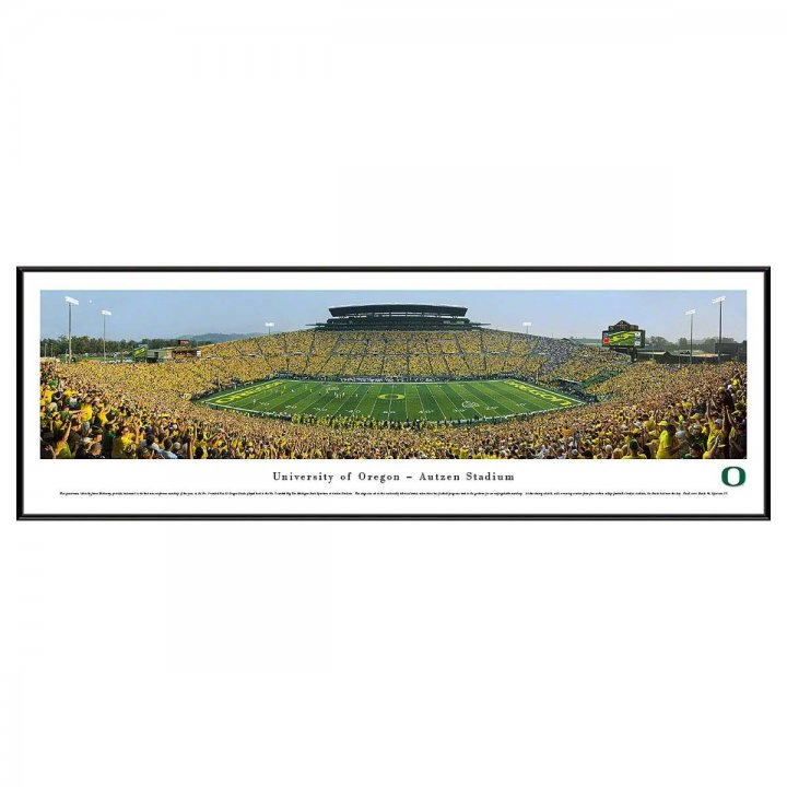 Oregon Ducks 50 Yard Day Standard Frame