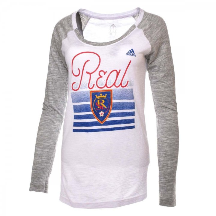 Real Salt Lake MLS Boxed Line Arch Marled Slub Longsleeve Tee (White)