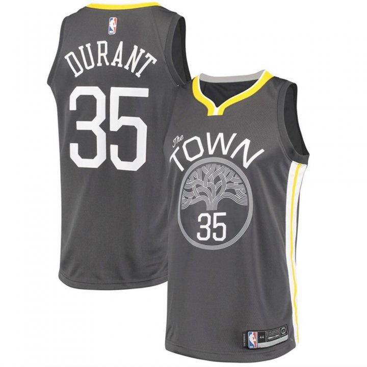 Outerstuff Youth 8-20 Golden State Warriors #35 Kevin Durant Jersey for Kids Black