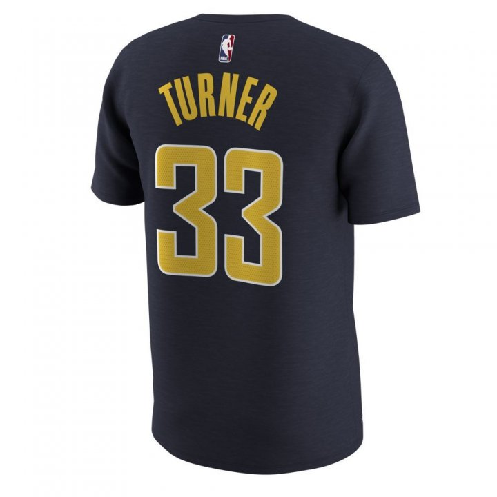 Indiana Pacers NBA Myles Turner Mens Shootaround Name & Number T-Shirt (Navy)
