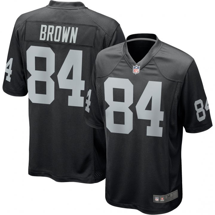 Franklin Sports Youth Kids 84 Antonio Brown Oakland Raiders Jersey Black