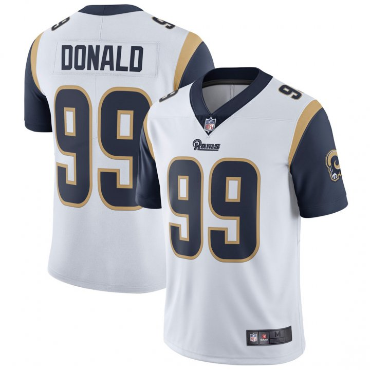 Franklin Sports Youth Kids 99 Aaron Donald Los Angeles Rams Jersey White
