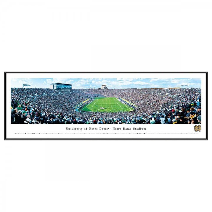 Notre Dame Fighting Irish End Zone Standard Frame