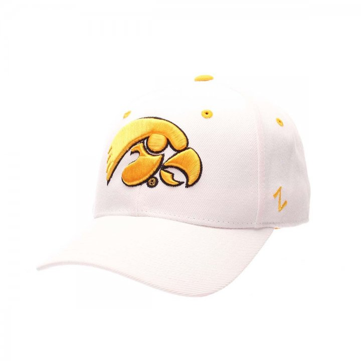 Iowa Hawkeyes Zephyr NCAA Dhs Fitted Hat (White)